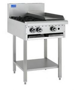 LUUS 'Professional' 2 Burner with 300mm wide Grill on leg stand