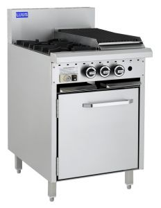 LUUS 2 Burner with 300mm wide Barbecue and Static Oven