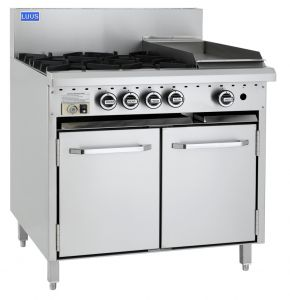 LUUS 4 Burner with 300mm wide Grill and Static Oven
