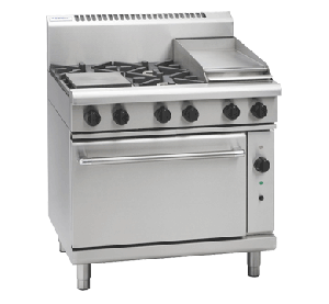 Waldorf '800 Series' Gas 4 Burner with 300mm Griddle and Convection Oven