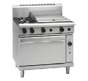Waldorf '800 Series' Gas 2 Burner with 600mm Griddle and Convection Oven