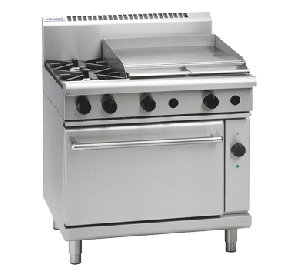 Waldorf '800 Series' Gas 2 Burner with 600mm Griddle and Electric Convection Oven