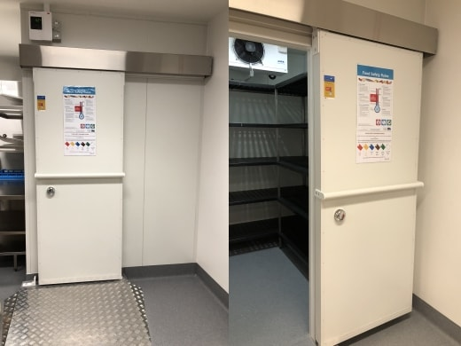 Commercial kitchen display coolroom