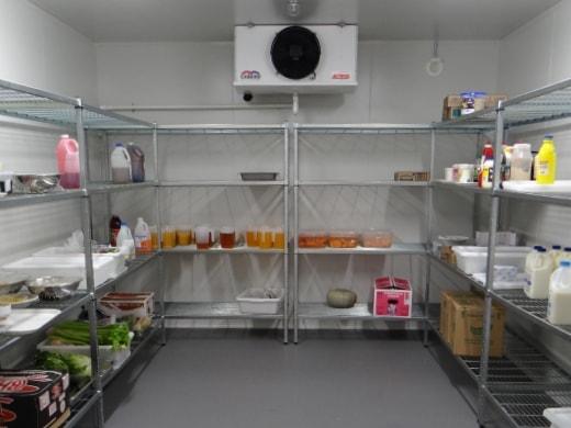 Custom cool storage hopitality kitchen