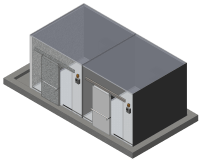 Custom commercial double coolroom